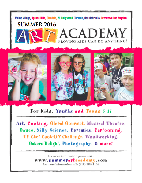 Valley Art Camp Enrollment Information 2016!