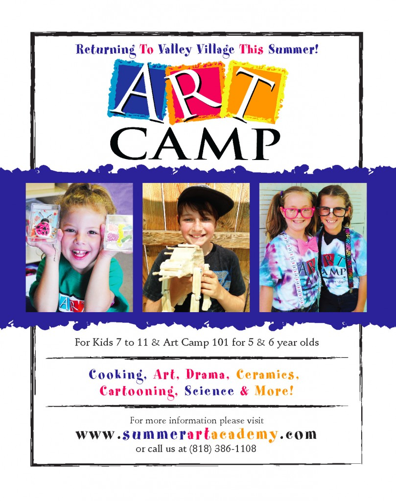 Valley Art Camp Enrollment Information!